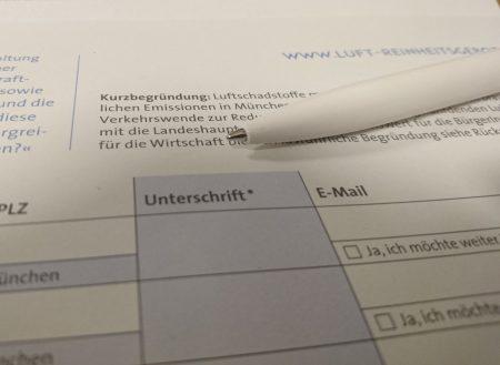 Sauba sog i, Unterschriftensammeln beendet, Foto: Grundmann