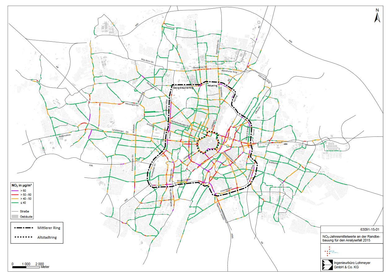 Nun ist es amtlich – die Luft auf Münchens Straßen ist gesundheitsgefährdend! >>