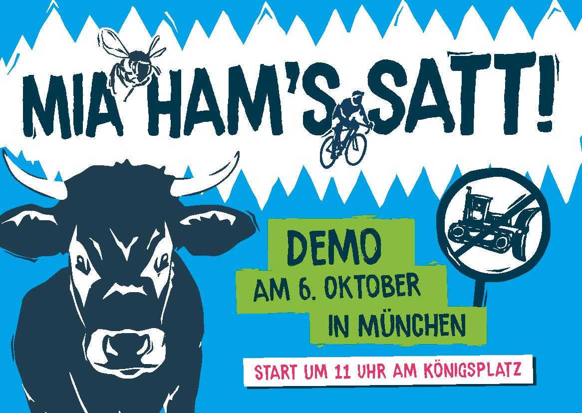 """06. Oktober 2018 – Demo """"Mia ham's satt"""" >>"""